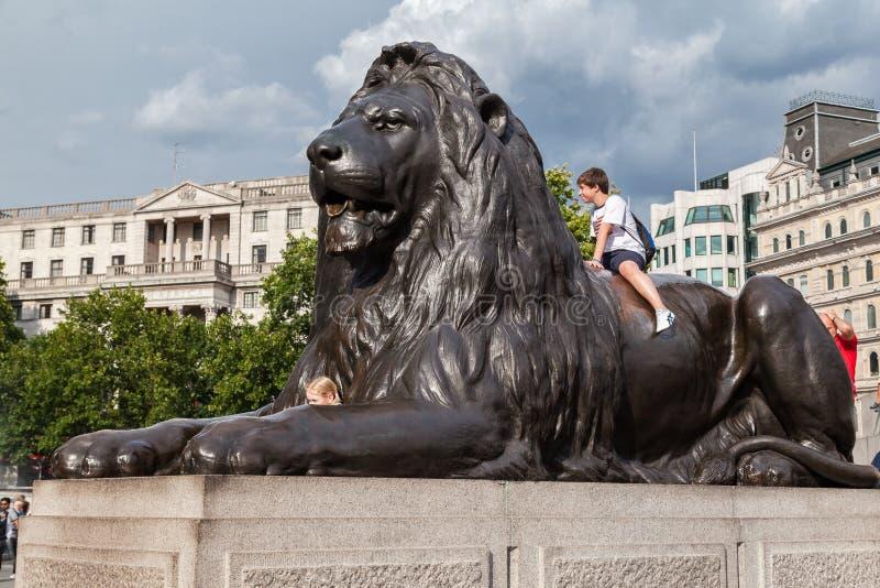 Cuadrado Inglaterra de Londres Trafalgar foto de archivo libre de regalías