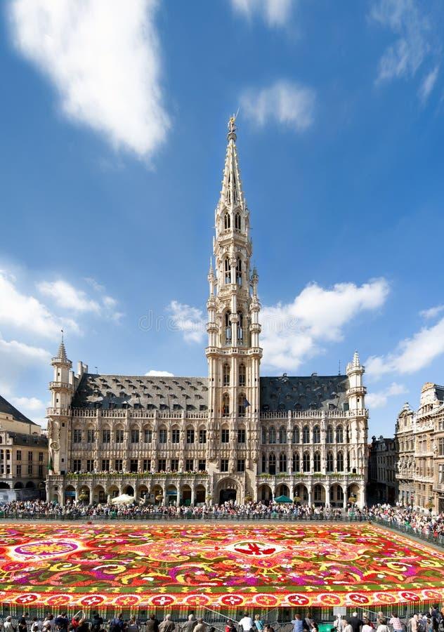 Cuadrado magnífico de Bruselas fotografía de archivo libre de regalías
