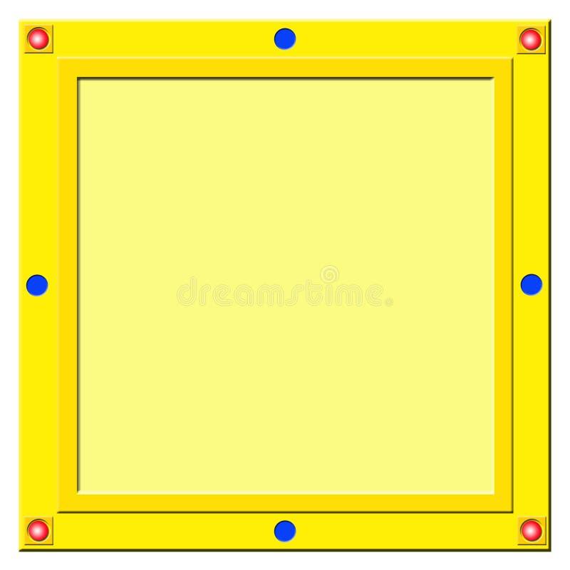 Cuadrado-marco de oro ilustración del vector