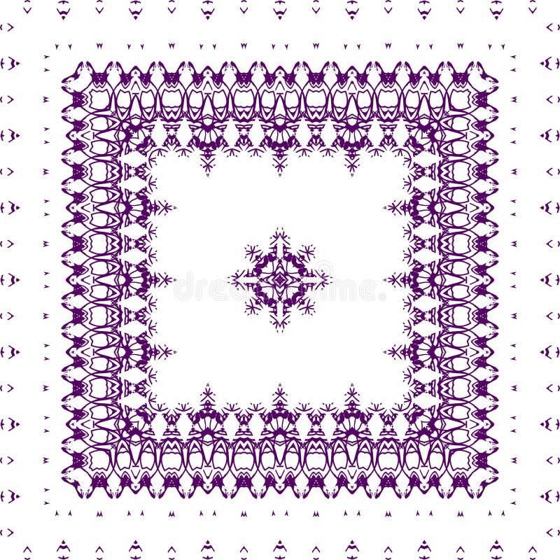Cuadrado, modelo púrpura en un fondo blanco ilustración del vector