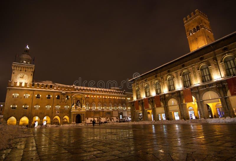 Cuadrado principal, Bolonia fotografía de archivo libre de regalías