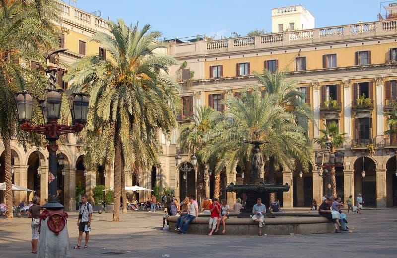 Cuadrado real - Barcelona foto de archivo