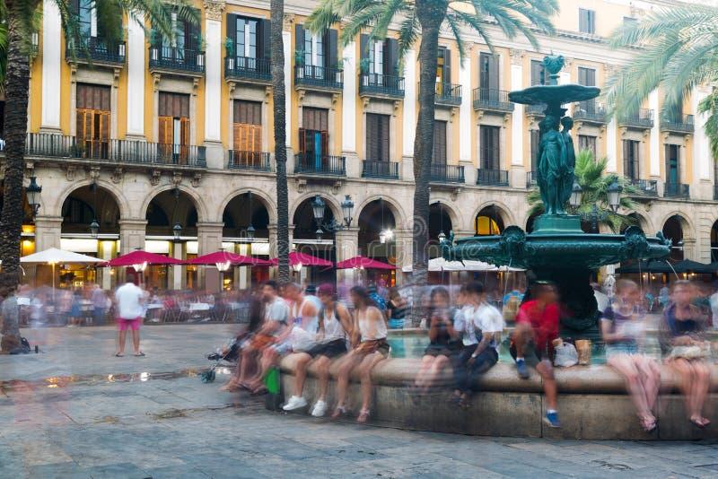 Cuadrado real en Barcelona, España foto de archivo libre de regalías