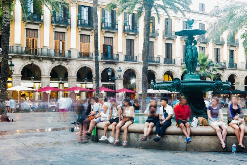 Cuadrado real en Barcelona, España imagen de archivo