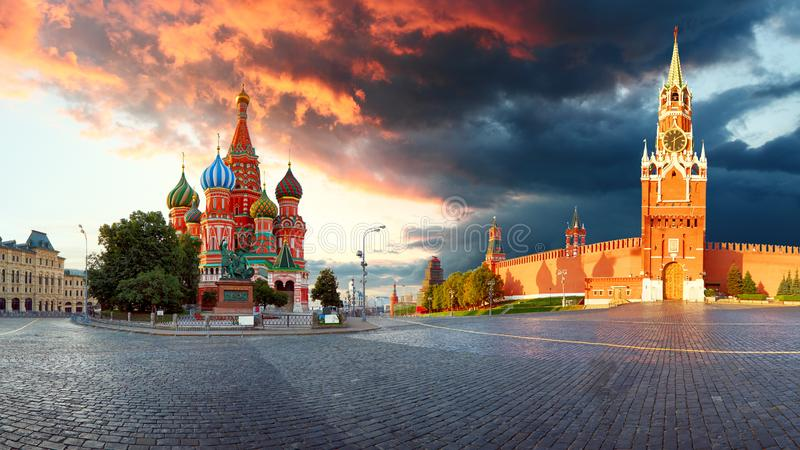 Cuadrado rojo de Rusia - de Moscú con el Kremlin foto de archivo libre de regalías
