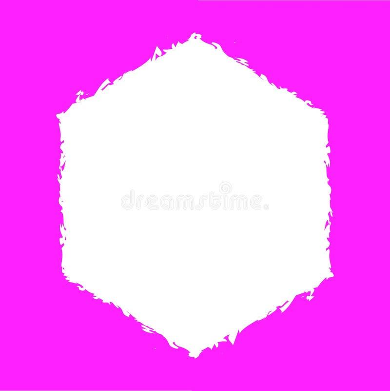 Cuadrado rosado Backround stock de ilustración