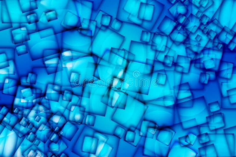 Cuadrados azules abstractos foto de archivo
