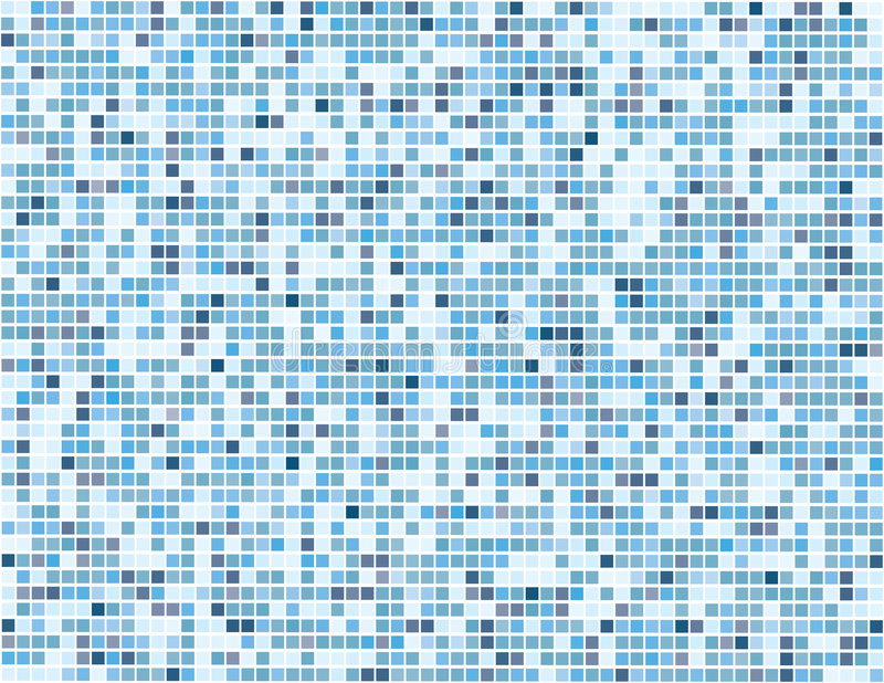 Cuadrados azules de Digitaces - vector stock de ilustración