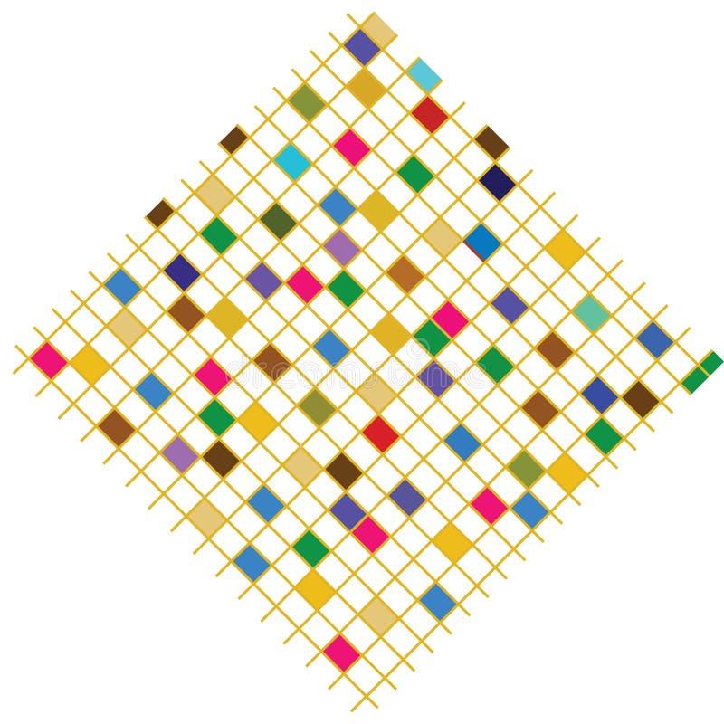 Cuadrados coloridos stock de ilustración