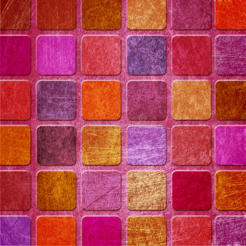 Cuadrados coloridos de Grunge ilustración del vector