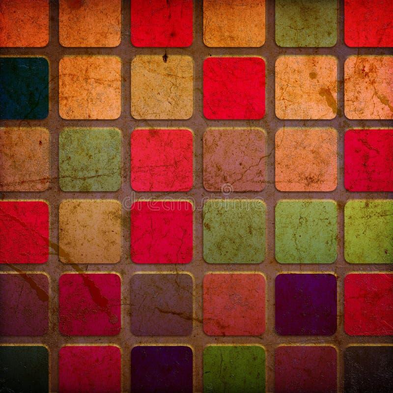 Cuadrados coloridos de Grunge imágenes de archivo libres de regalías