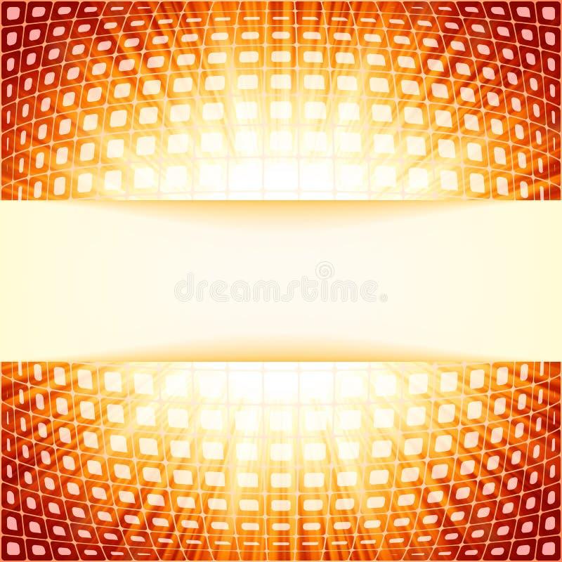 Cuadrados de la tecnología con la explosión roja de la flama. EPS 8 libre illustration