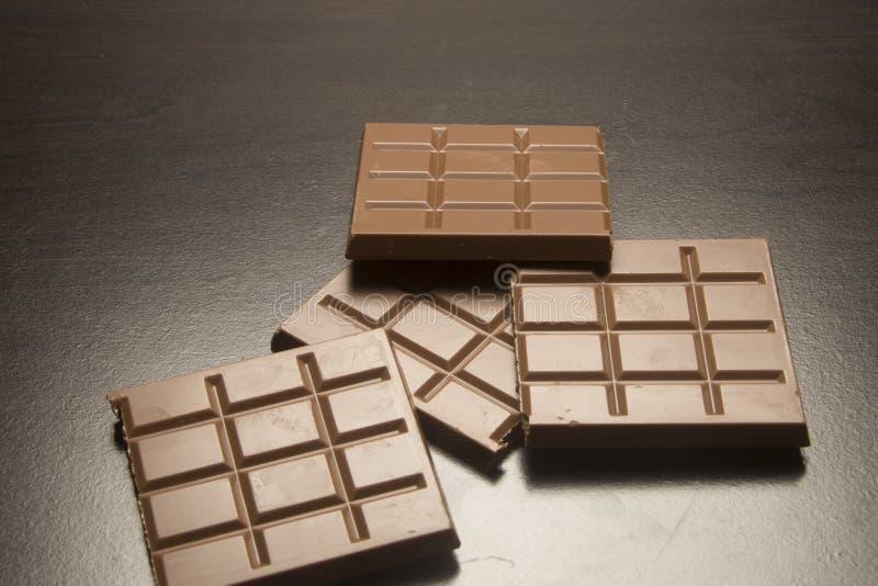 Cuadrados del chocolate imágenes de archivo libres de regalías
