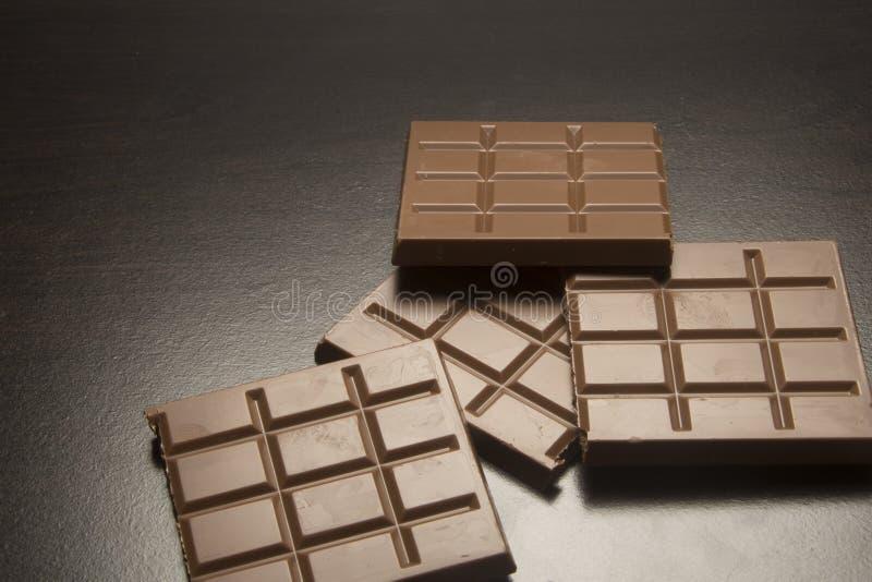 Cuadrados del chocolate foto de archivo libre de regalías