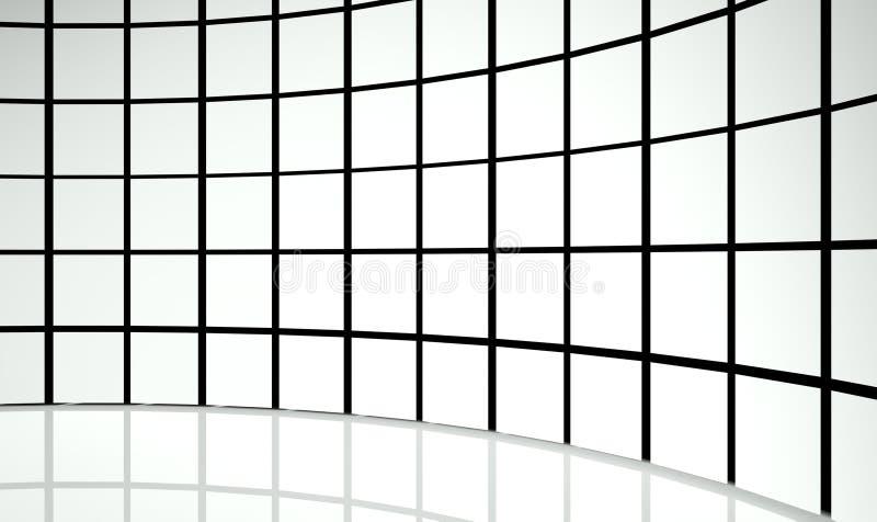 cuadrados del diseño del extracto 3d ilustración del vector