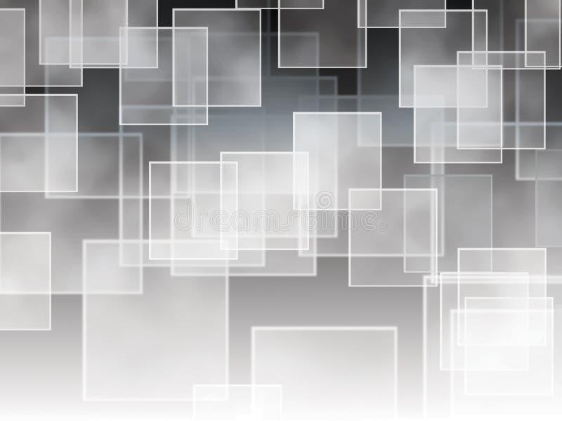Cuadrados en una pendiente blanco y negro ilustración del vector