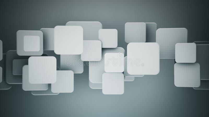 Cuadrados grises traslapados 3D rendir el ejemplo libre illustration