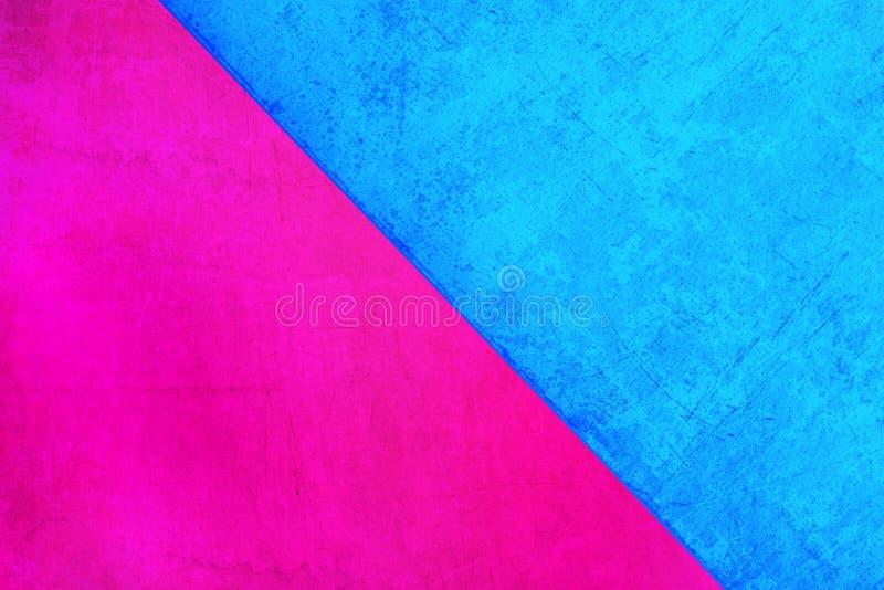 Cuadrados multicolores del fondo azul rosado ilustración del vector