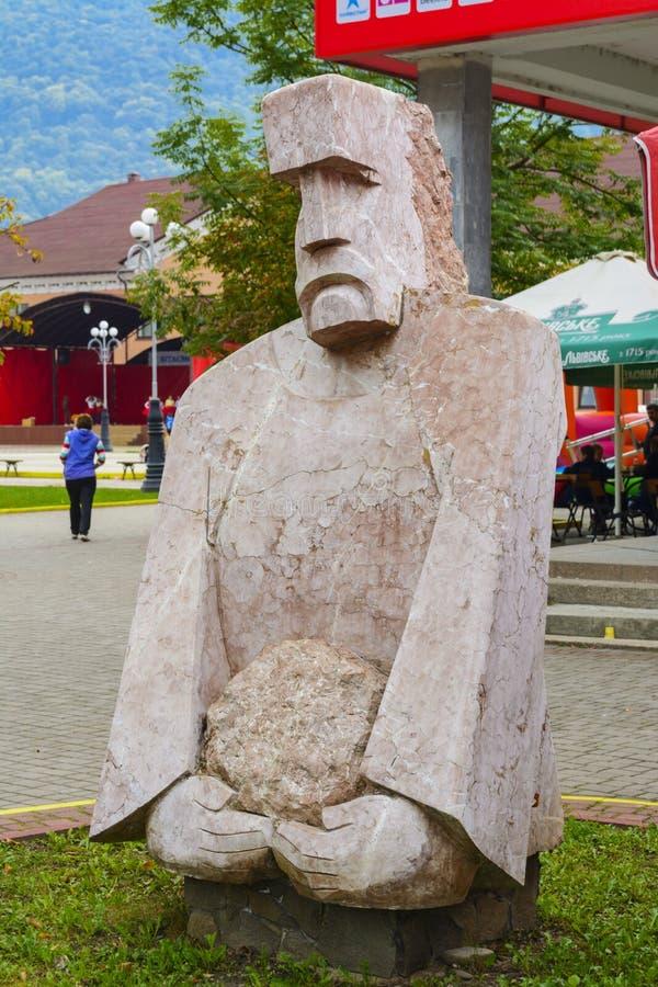 Cuadrados, parques, fuentes, ciudades de las estatuas foto de archivo libre de regalías