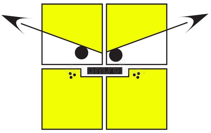 CUADRADOS - perro enojado libre illustration