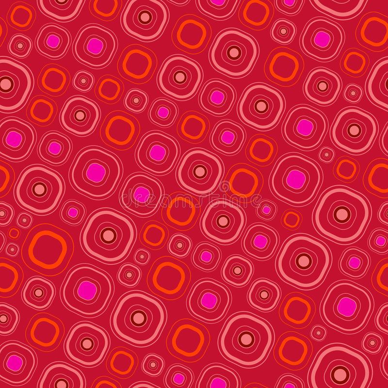 Cuadrados redondeados inconsútiles rojos ilustración del vector