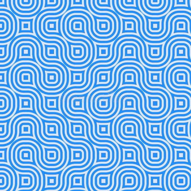 Cuadrados retros ilustración del vector