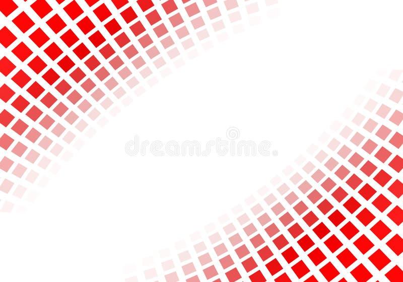 Cuadrados rojos abstractos ilustración del vector