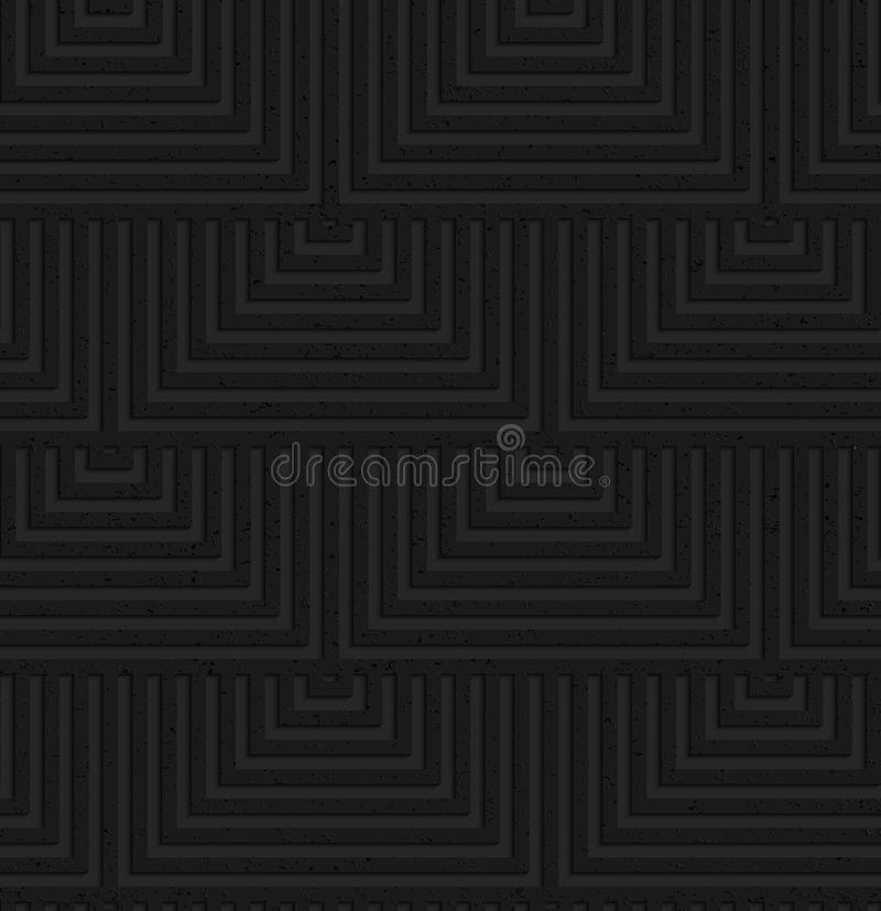 Cuadrados traslapados texturizados del plástico negro stock de ilustración