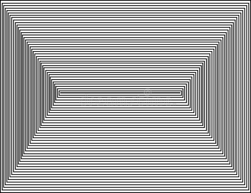 Cuadrados, vector blanco negro stock de ilustración