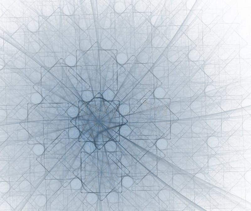 Cuadrados y círculos - en azul ilustración del vector