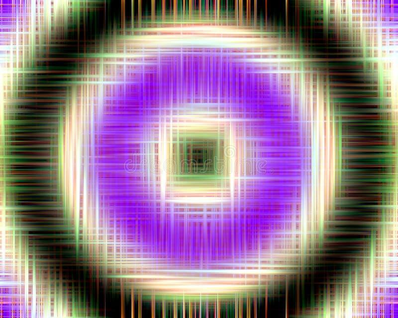 Cuadrados y fondo hipnóticos de los círculos libre illustration