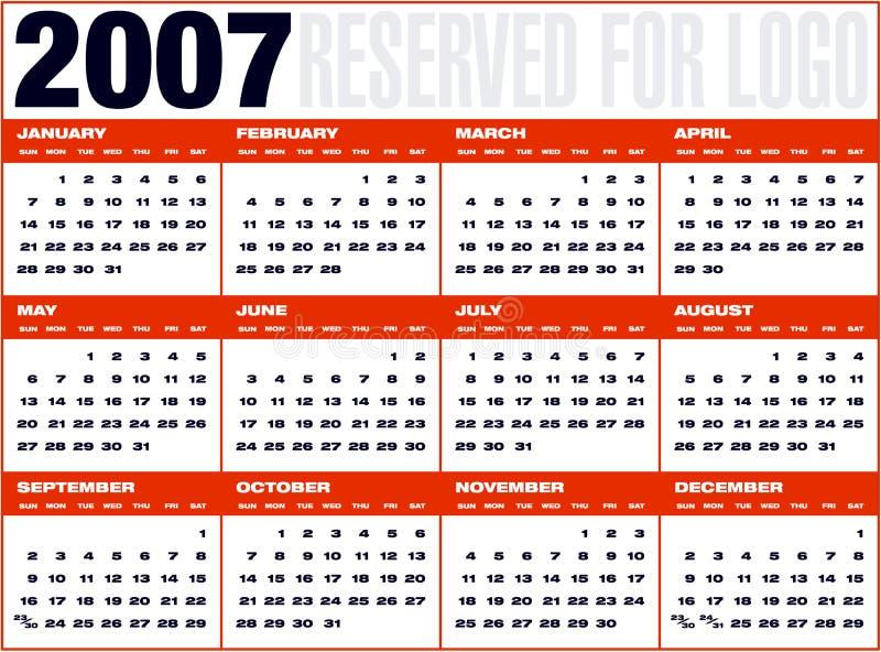 Cuadricula van Calendario9 royalty-vrije illustratie