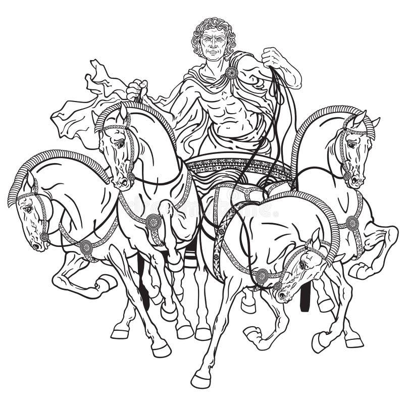 Cuadriga libre illustration