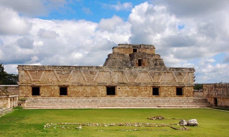 Cuadrilátero del convento de monjas en Uxmal foto de archivo