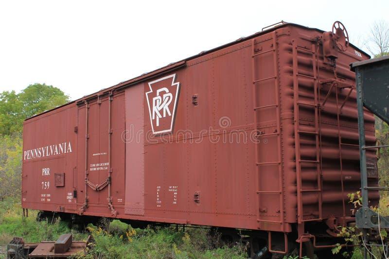 Cuadro de coche del ferrocarril de Pennsylvania imágenes de archivo libres de regalías
