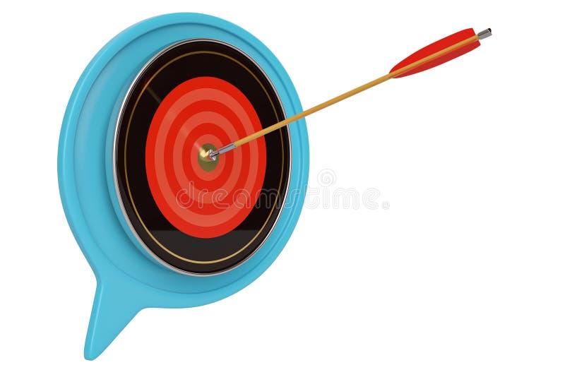 Cuadro de diálogo y flecha con el ejemplo de la blanco 3D libre illustration