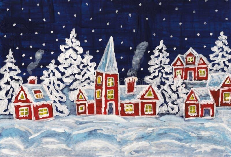 Cuadro de la Navidad ilustración del vector