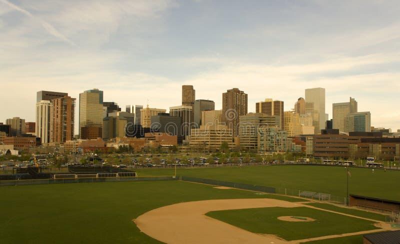 Cuadro de la tarde de Denver imagen de archivo libre de regalías