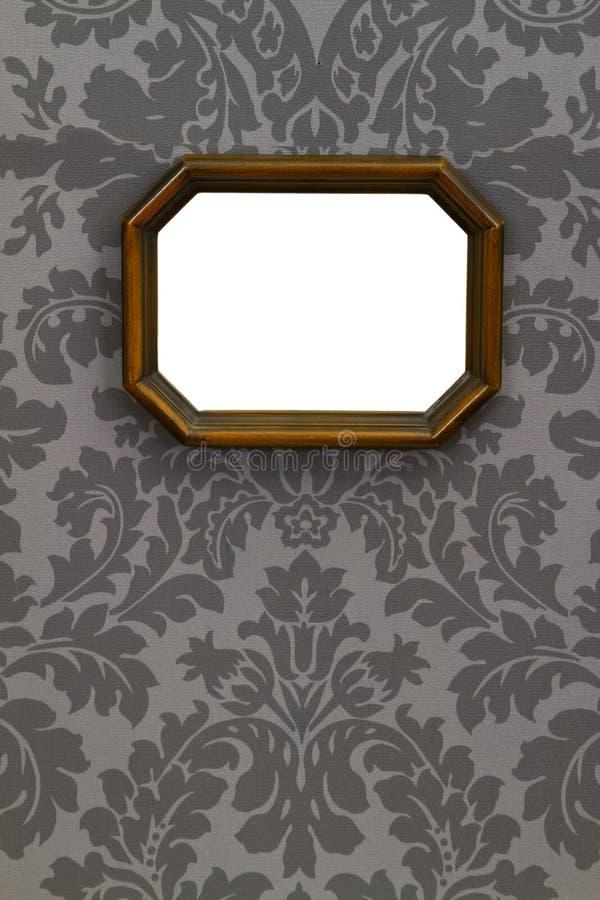 Cuadro de madera de la vendimia en blanco fotografía de archivo