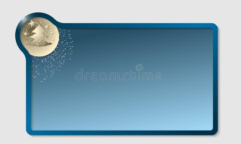 Cuadro de texto azul stock de ilustración
