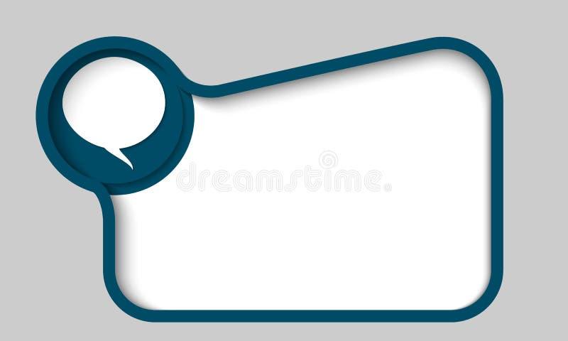Cuadro De Texto Azul Para Cualquier Texto Con La Burbuja