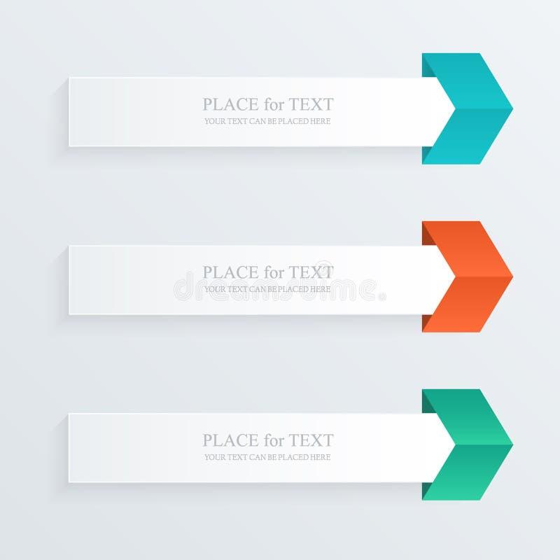 Cuadro de texto colorido del vector ilustración del vector