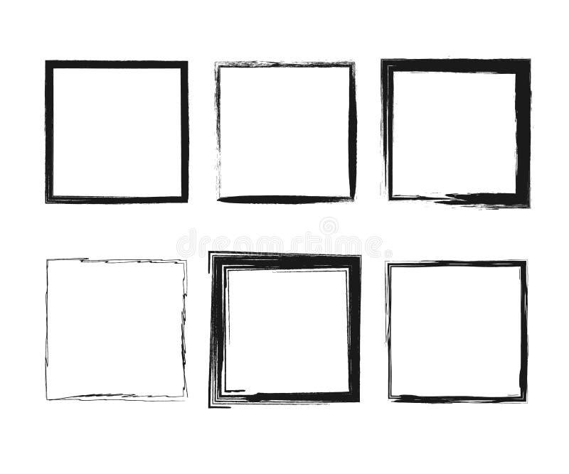 Cuadro de texto de manchas negras stock de ilustración