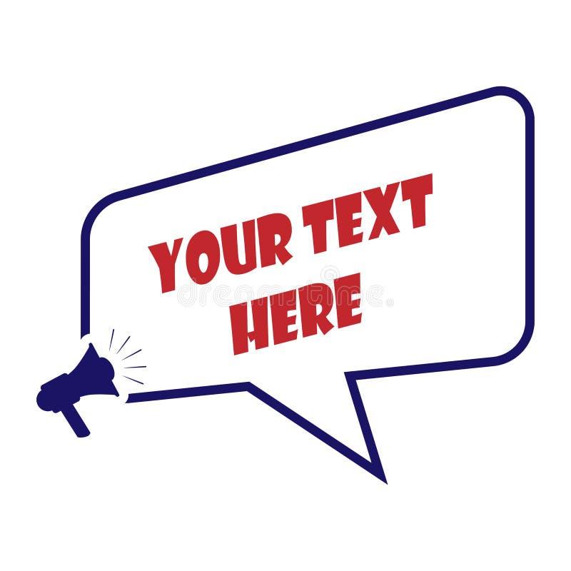 Cuadro de texto, reclamo para el texto, frase o mensaje libre illustration