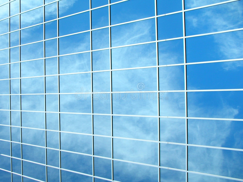 Cuadro de un edificio de cristal libre illustration