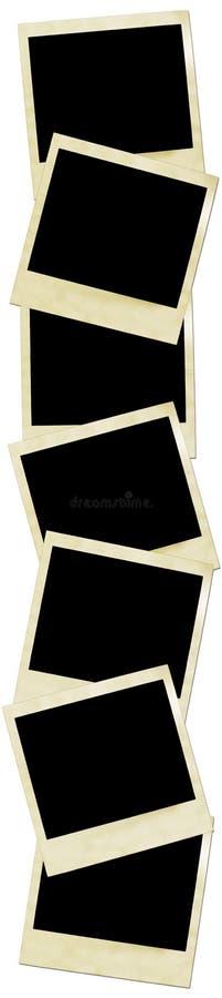 Cuadro de un frente de las polaroides. fotografía de archivo libre de regalías