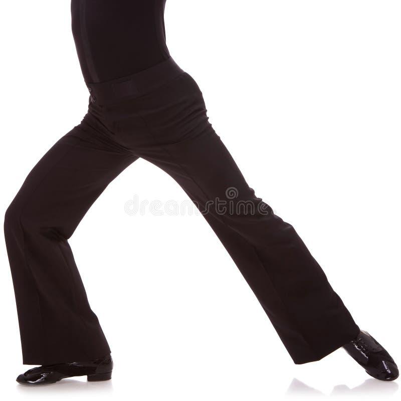 Cuadro del recorte de un bailarín de sexo masculino de la salsa fotos de archivo libres de regalías