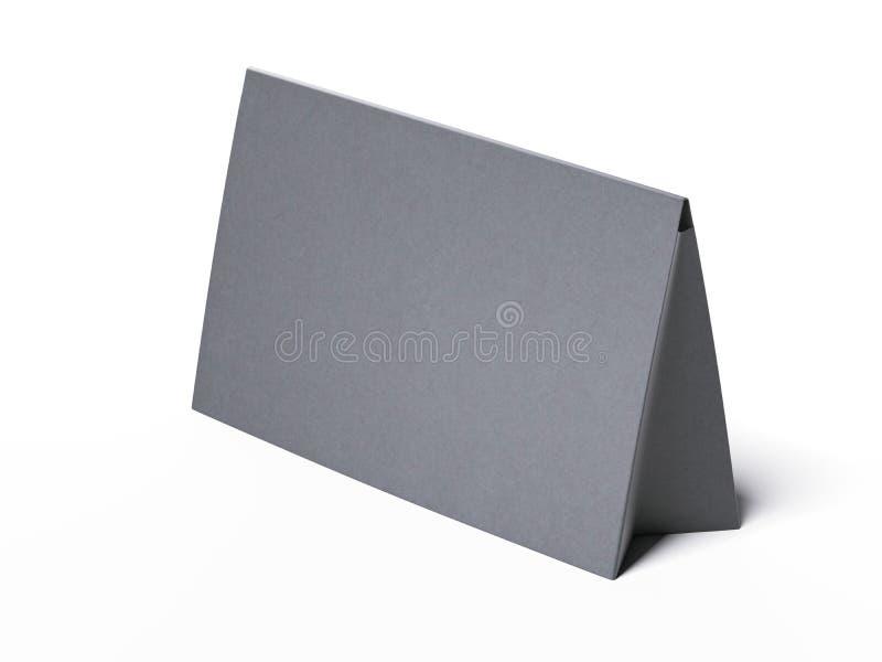 Cuadro gris en blanco diez representación 3d stock de ilustración