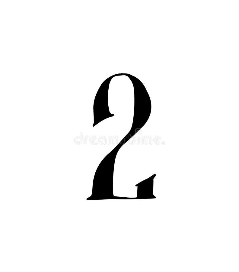 Cuadro 2 Vector logotipo para la compa??a Icono para el sitio Número separado del alfabeto ruso S antiguo neo-ruso gótico stock de ilustración