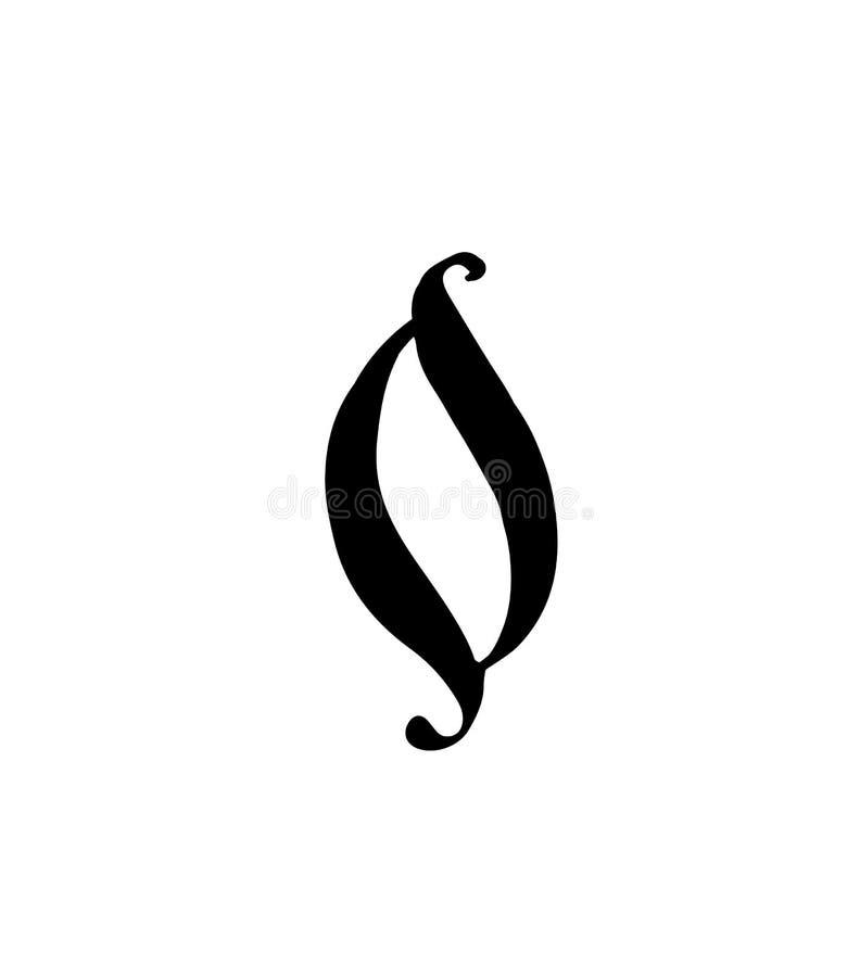 Cuadro 0 Vector logotipo para la compa??a Icono para el sitio Número separado del alfabeto ruso S antiguo neo-ruso gótico libre illustration